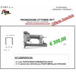 PROMOZIONE KIT PUNTATRICI PNEUMATICHE 84/16 E PUNTI ST84/08G