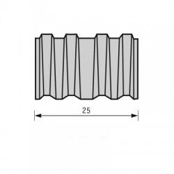 Lamelle corrugate acciaio 25 mm
